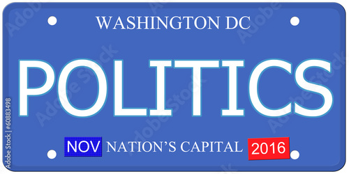 Politics Washington DC License Plate