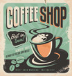 Retro poster for coffee shop