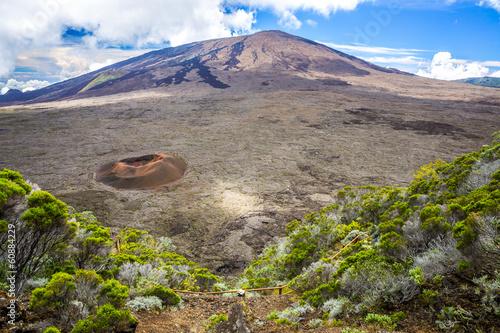 Fotobehang Vulkaan Piton de la Fournaise, La Réunion