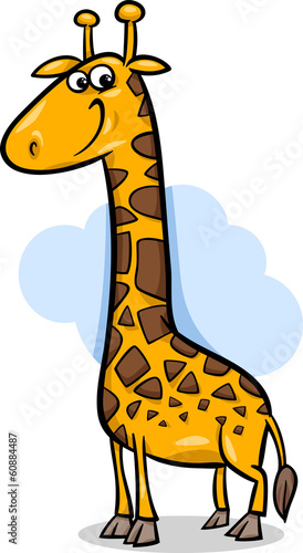 cute giraffe cartoon illustration