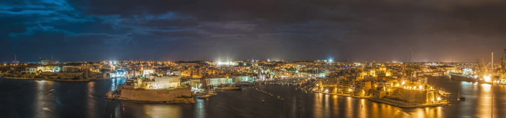 Three Cities as seen from Valletta, Malta