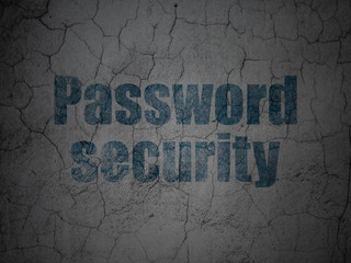 Security concept: Password Security on grunge wall background