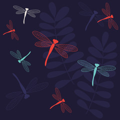 "Seamless pattern ""Dragonfly"""
