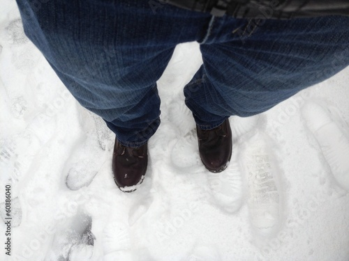 foot prints on snow