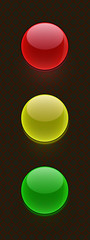 buttons traffic light grid dark