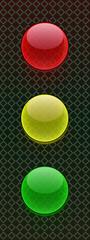 buttons traffic light grid gray