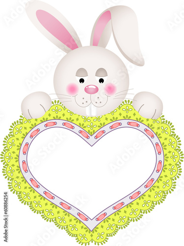 Bunny Holding Embroidered Heart