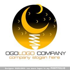logo, vector, sign, night, moon, art, illustrations