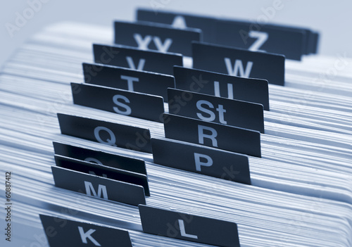 Alphabetisches Register, Kartei