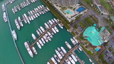 Aerial video of Miami architecture