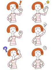 女性 6種類の仕草とポーズ