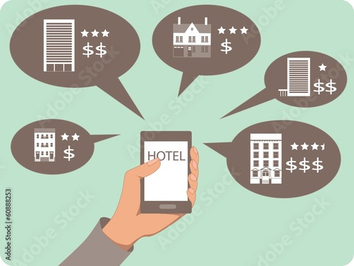 Mobile search for a hotel