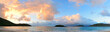 Beach sunset panorama