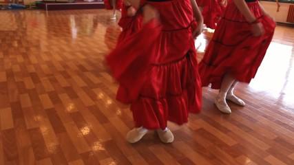 tango  ballet little girls legs exercise