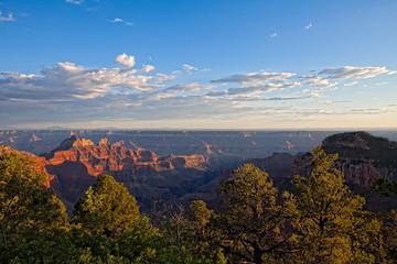 AZ-Grand Canyon-North Rim-sunset near the lodge