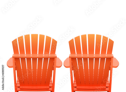 Vacation Beach Chairs on White