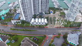 Aerial video of Miami Beach architecture