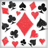 Playing cards symbol background