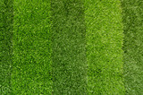 Artificial green grass. Background of soccer field poster