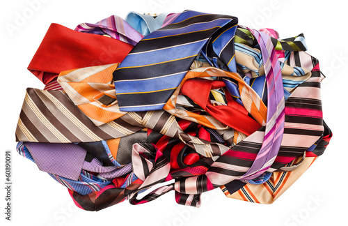 Pile of neckties