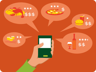 Mobile search for restaurants