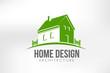 Home Design Logo Vector illustration