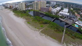 Aerial footage of Pompano Beach Florida