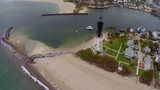 Aerial video of a light house