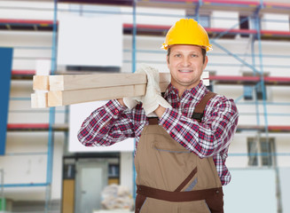 Repairman With Wooden Plank