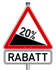Rabatt Schild 20%   #140130-svg06