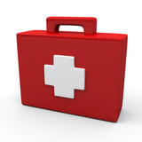 First aid medical kit box, 3d