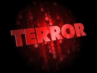 Terror on Red Digital Background.