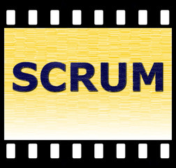 SCRUM Filmstrip Illustration