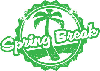 Spring Break Travel Stamp