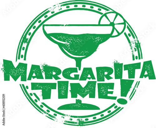 Fototapeta Vintage Margarita Cocktail Stamp