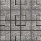 Grainy Paving Slabs. Seamless Tileable Texture.