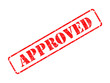 Approved on Red Rubber Stamp.
