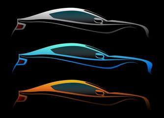 Renkli 3 otomobil