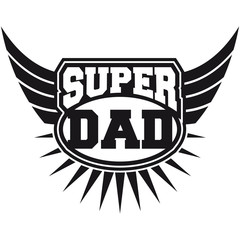 Super Dad Wings Logo