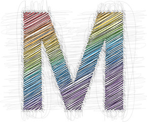 Hand draw font LETTER M