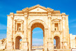 Arch of Hadrian in the ancient Jordanian city of Jerash