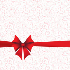 Holidays background with ribbon and bow