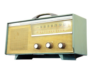 Vintage fashioned radio, clipping path