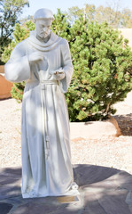 White St Francis of Assisi Statue