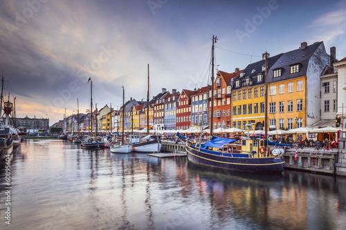 Copenhagen, Denmark at Nyhavn Canal Poster