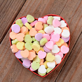 Heart Shaped Box with Valentines Candies