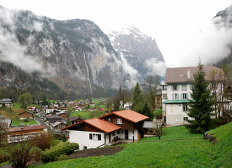 Townscape of Interlaken, Switzerland