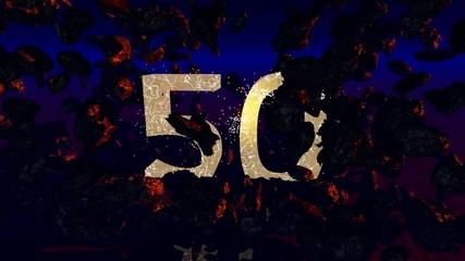 50 Jahre Jubiläum (3d Rendered Artwork)