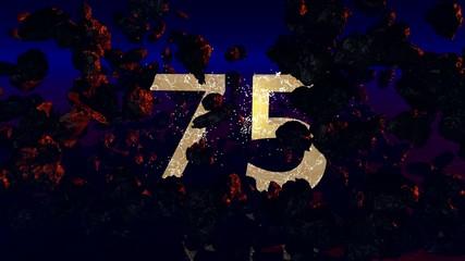 75 Jahre Jubiläum (3d Rendered Artwork)
