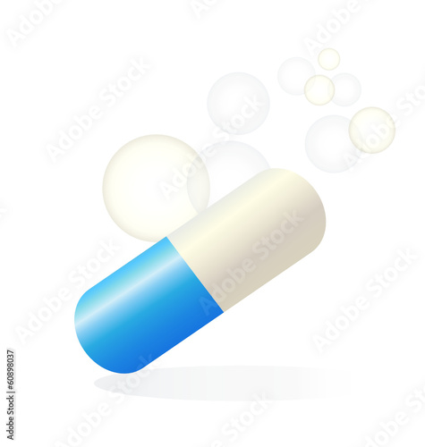 Pill relief medical vector logo